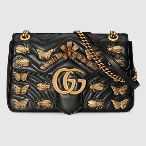 ebe6fdd337a GG Marmont animal studs shoulder bag. GG Marmont animal studs shoulder bag.  More information. Women s Shoulder Bags