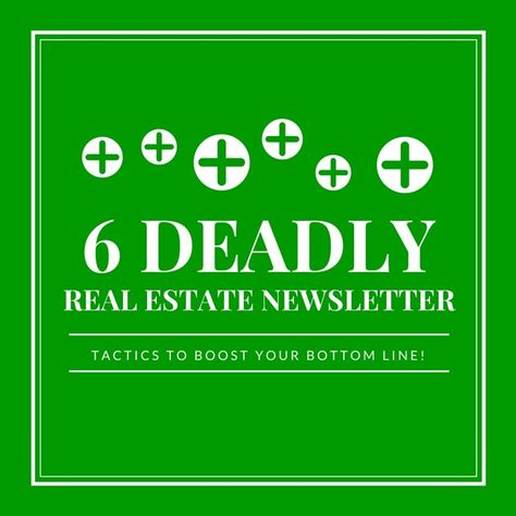 Are your real estate newsletters underperforming (or non-exisitent - real estate newsletter template