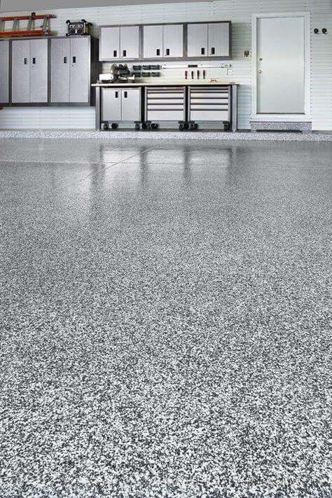 Epoxy Garage Floor Coating Look & Last Like Granite - You will like this flooring ideas Garage Paint, Garage Floor Epoxy, Epoxy Floor, Paint Garage Floors, Apoxy Garage Floor, Garage Floor Resurfacing, Epoxy Garage Floor Paint, Smooth Concrete, Concrete Floors