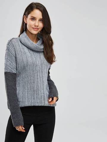 LemonGirl Womens Thick Long Sleeve High Collar Dress Pullover Sweater