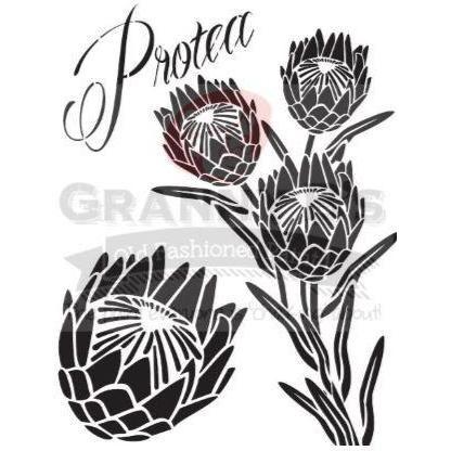 Image Result For Protea Stencil Protea Art Stencils Printables Flower Stencil