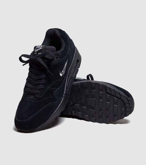 Suede DamesSizeSneakers Max Zwart 1 Air Nike Jewel yf76gvYb