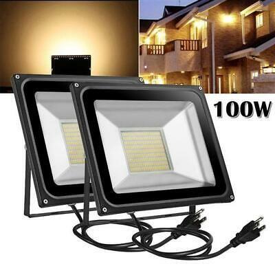 Details About Us 10w 100w Led Flood Light Outdoor Spotlight Landscape Lamp W Us Plug Ac110v In 2020 Led Flood Flood Lights Home And Garden