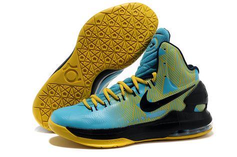 ed1049d6375d Cheap KD 5 Shoes Yellow Blue Black Sale