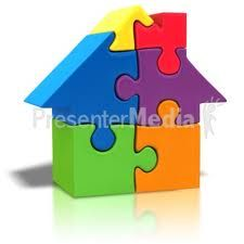 puzzle piece house missing powerpoint clip art househunting rh pinterest com  puzzle clip art powerpoint free