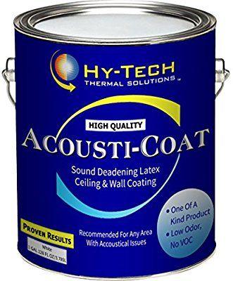 Acousti Coat Sound Deadening Paint 1 Gallon Amazon Com Sound Deadening Sound Proofing Soundproofing Material