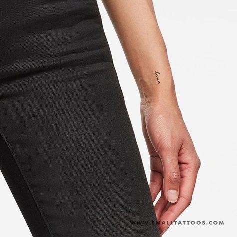 'Love' Temporary Tattoo (Set of 3)
