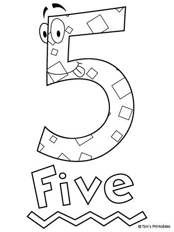 Number Five Coloring Page Tim S Printables Coloring Pages Printable Coloring Pages Free Printable Coloring Pages