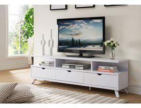 Lanie Modern White Tv Stand Living Room Tv Stand Tv Stand Decor White Tv Stands