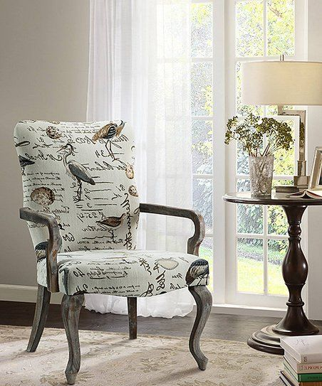 Superb Main Green Gray Birds Accent Chair Zulily Furniture Creativecarmelina Interior Chair Design Creativecarmelinacom