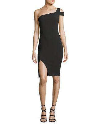 Mesh-Yoke Ponte Sheath Dress  2dad34252