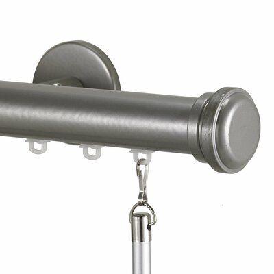 Charlton Home Gabler Traverse Single Curtain Rod Hardware Set