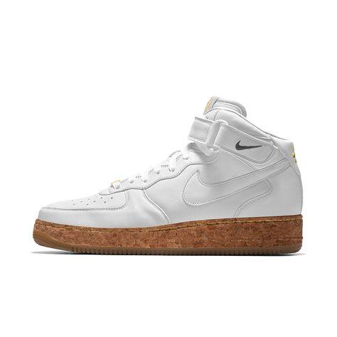 Nike Air Force 1 Mid Premium iD Men's Shoe Size 6 (White)
