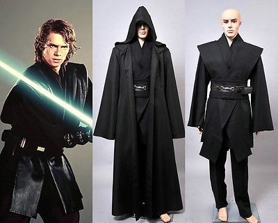 Star Wars Revenge Of The Sith Anakin Skywalker Cosplay Black Outfit Suit Costume 75 19 Sith Lord Costume Black Outfit Sith Cosplay