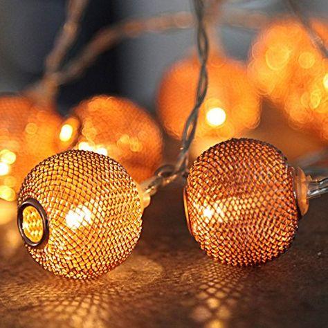 LED Lichterkette Ricelight 6 m Länge Außenbeleuchtung transparentes Kabel