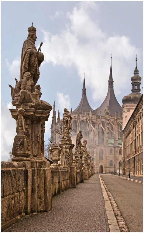 The cathedral of St.Barbara in Kutná Hora (Central Bohemia), Czechia. Photo by Alexey Michajlov we're going here in Prague! Places To Travel, Places To See, Bósnia E Herzegovina, Prague Travel, Prague Czech Republic, Kirchen, Travel Inspiration, Destinations, Beautiful Places