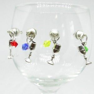 Magnetic Wine Glass Charm Set Crystal Wine Charms For Glasses Wine Party Favors Wine Gifts For Wine Lovers In 2020 Wine Glass Charms Gifts For Wine Lovers Wine Charms