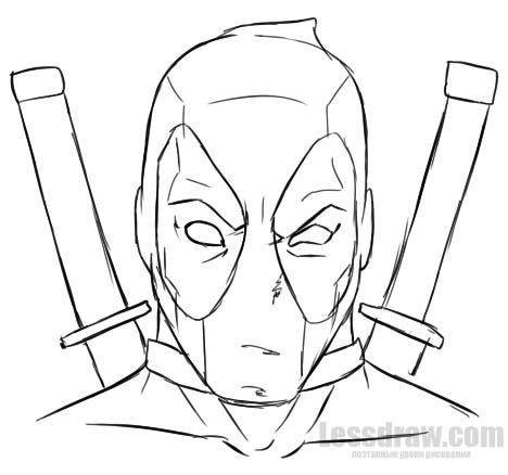 How To Draw Deadpool Easy For Beginners Lessdraw In 2019