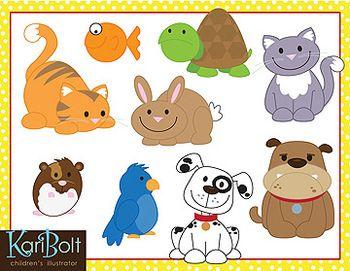 Pets Animal Clip Art In 2020 Pets Preschool Pets Animal Theme