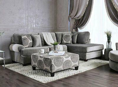 New Modern Living Room Furniture Gray Microfiber Sofa In 2020 Microfiber Sectional Sofa Modern Furniture Living Room Sectional Patio Furniture