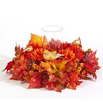 This Fall Bird  & Leaf Centerpiece is the perfect fall addition to any family room or dining room.