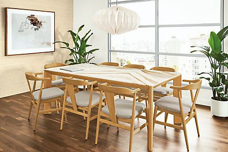 Pren Tables With Cambria Tops Modern Dining Tables Modern