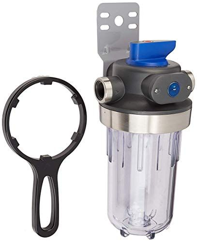 Amazonbasics Amzn Hd200 C Heavy Duty Filtration 1 Inlet And Outlet Equivalent To Culligan Wh Hd200 C Whole Water Filter Housing Blue All4hiking Com Water Filter Housing Water Filter Best Water Filter