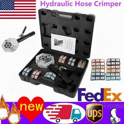 A//C Hydraulic Hose Crimper Air Conditioning Repair Crimping Hand Tools Die Set