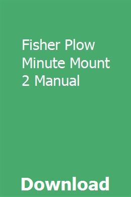 Fisher Plow Minute Mount 2 Manual Manual Case Ih Tractors Fisher