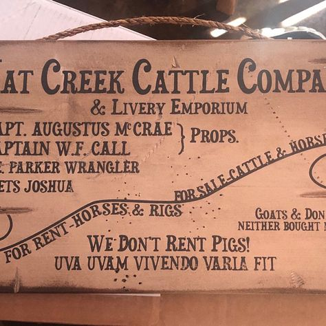 Barn Rules Rustic Western Antiqued Wooden Sign Etsy In 2020 Wooden Signs Hat Creek Cattle Company Lonesome Dove Sign