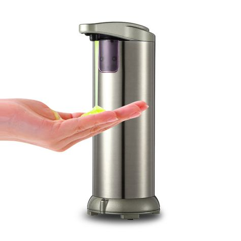 Dispensador Jabon Automatico Cocina Bano Acero Inoxidable Touchless