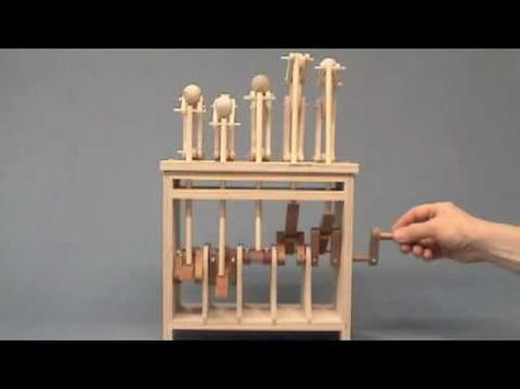 Cecilia Schiller's automata woodcarving being assembled.