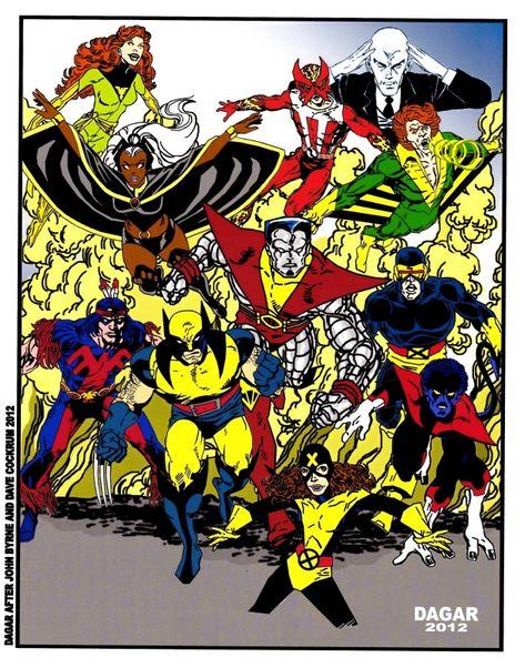 NEW X-MEN FULL TEAM AFTER JOHN BYRNE Comic Art