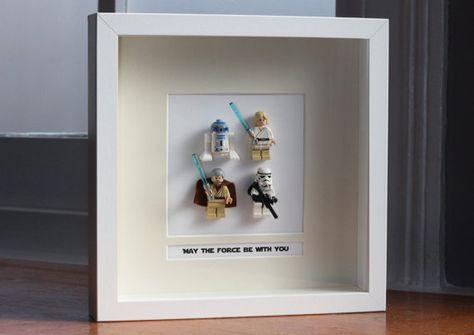 Star Wars Framed Mini Figures 'Tatooine' made by PrettyPeculiarUK, £55.00