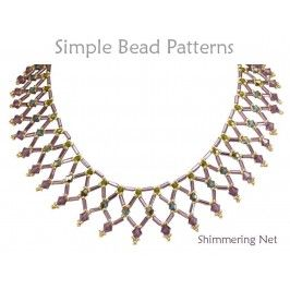 Netted Bead Necklace Pattern With