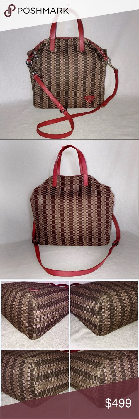8887cf22cdbd PRADA Tessuto Stampato Patterned 3-Way Tote 👉PRICED TO SELL (higher trade  value