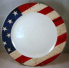 American Flag Dinner Plate Colonial Warren Kimble Sakura Rustic Red White Blue & Sakura Snow Pals Zulauf Designs Dinner Plates | Sakura Dinnerware ...
