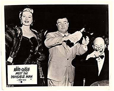 Abbott And Costello Meet The Invisible Man Great Shot Of Lou Invisible Man Lobby Cards Abbott And Costello