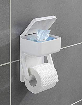 Wenko Duo Papierhaltertoilettenpapier Badezimmer Feuchttucher Hygiene Wandhalterung Toilettenpapierhalter Wc Ba Toilettenpapierhalter Toilettenpapier Klopapier