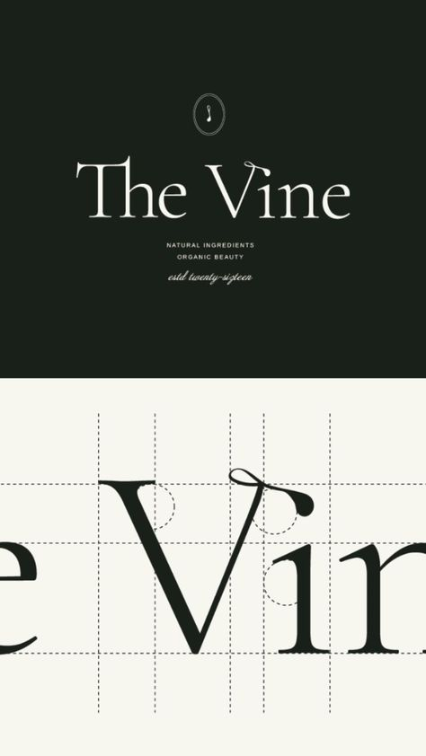 Brand identity design for The Vine Organic Beauty 🌿