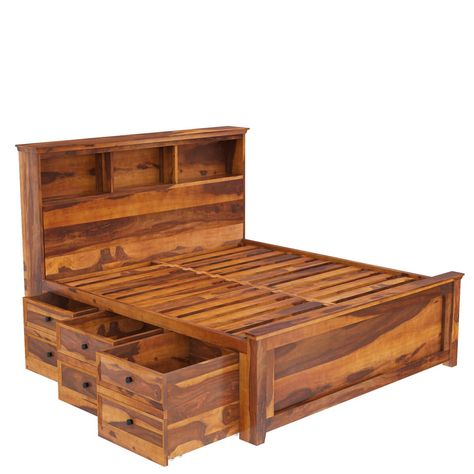Mission Modern Solid Wood Platform Storage Bed Wood Bed Design