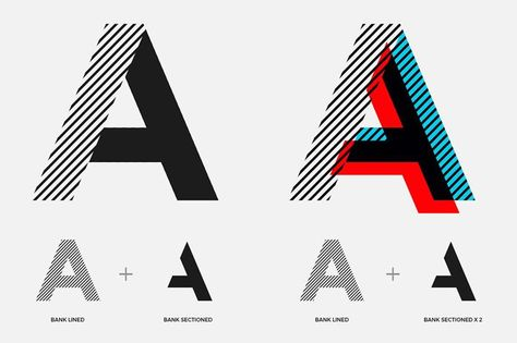 Doublé et sectionné. - Typographie