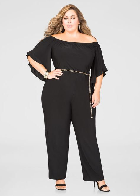 Off-Shoulder Chain Belrot Jumpsuit
