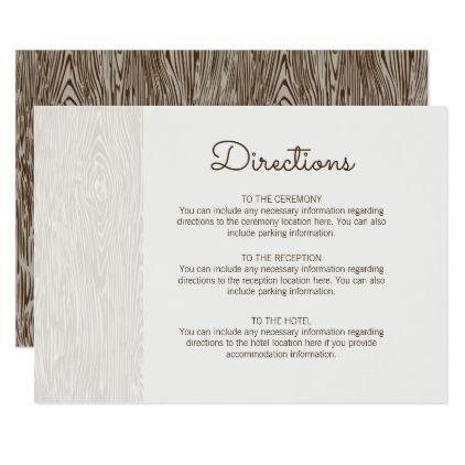 Modern Rustic Woodgrain Wedding Directions Card Rustic Wedding Marriage Love Cyo Wedding Reception Cards Wedding Direction Cards Wedding Directions