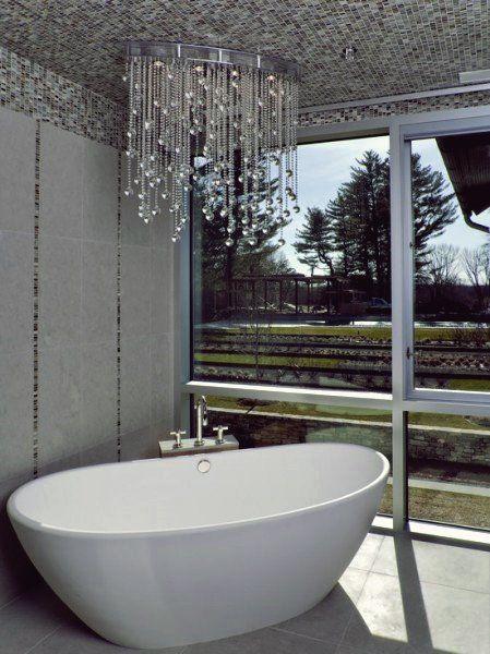 15 Spektakulare Ideen Fur Kronleuchter Im Badezimmer Badezimmer Fur Ideen Kronleuchter S In 2020 Moderne Beleuchtung Badezimmer Design Luxuriose Inneneinrichtung