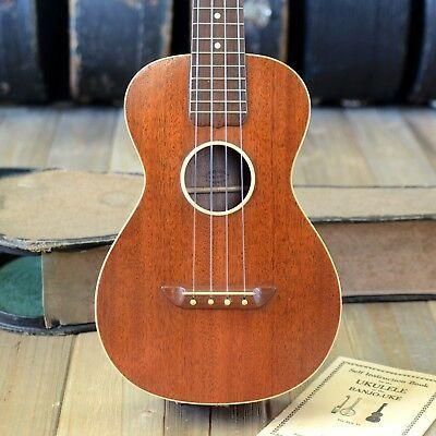 Rare 1925 Washburn Tua Tenor Concert Ukulele Original Case Lyon Healy Ebay Ukulele