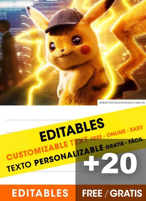 20 Tarjetas De Cumpleaños De Pokemon Gratis Para Editar