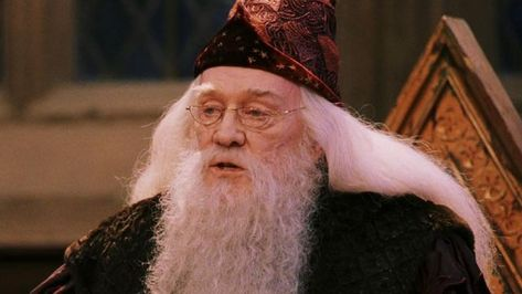 The eye glasses worn by Albus Dumbledore (Richard Harris) in