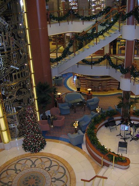 https://flic.kr/p/6MGeox | Grand Plaza | Another view of the Grand Plaza. Notices that the ship was decorated fro Christmas.
