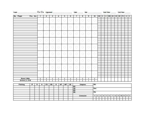 Sample tennis score sheet template printable blank bid proposal baseball scoresheet template 24 baseball score sheet pinterest sample tennis score sheet template pronofoot35fo Choice Image